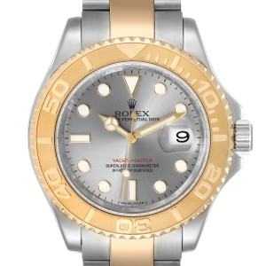 Rolex Yachtmaster Steel Yellow Gold Slate Dial Mens Watch 16623