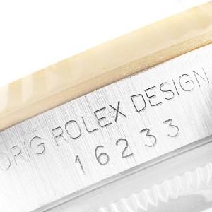 Rolex Datejust Steel Yellow Gold Vignette Diamond Dial Watch 16233