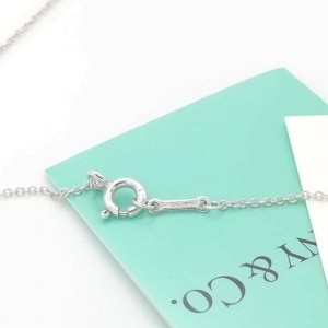 Tiffany & Co. silver 1P Diamond Modern Heart necklace