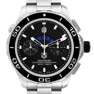 Tag Heuer Aquaracer Black Dial Steel Mens Watch CAK211A Box Card