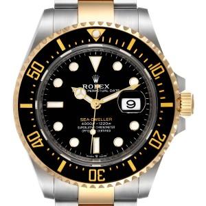 Rolex Seadweller Black Dial Steel Yellow Gold Mens Watch 126603