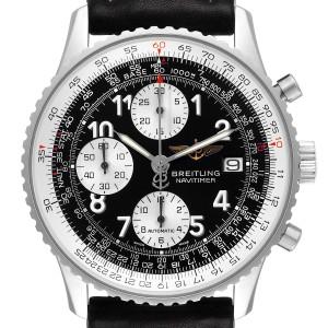 Breitling Navitimer II Black Dial Chronograph Mens Watch A13322