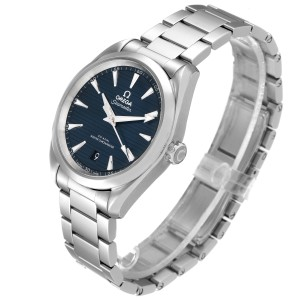 Omega Seamaster Aqua Terra Blue Dial Steel Mens Watch 220.10.38.20.03.001