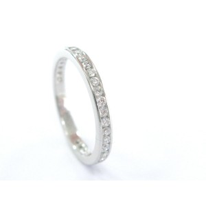 Tiffany & Co. Platinum Diamond Channel Set Eternity Band Ring