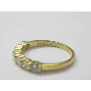 Tiffany & Co. 18K Yellow Gold 7-Diamond Bar Band Ring