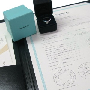 Tiffany & Co. PT950 Platinum with 0.90ct Solitaire Diamond Engagement Ring Size 6