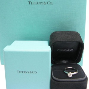 Tiffany & Co. Platinum with 0.50ct Solitaire Diamond Ring Size 5