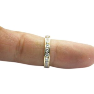 Tiffany & Co. 18K Yellow Gold with 0.78ct Diamond Channel Set Eternity Band Size 5