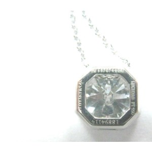 Tiffany & Co. Platinum Lucida Diamond Bezel Set Pendant Necklace