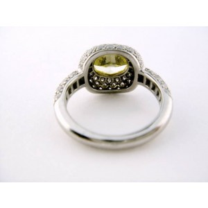 Tiffany & Co. Platinum Yellow Diamond Bezel Set Engagement Ring