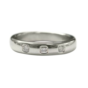 Tiffany & Co. PT950 Platinum with 0.15ct Diamond Band Ring Size 4.5