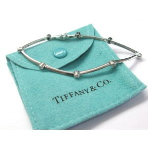 Tiffany & Co Platinum Diamond Bezel 8-Station Bracelet