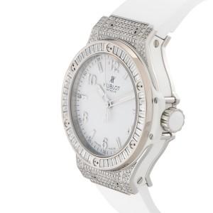 Hublot Big Bang 361.SE.2010.RW.0904 Stainless Steel White/Rubber 38 mm Womens Watch
