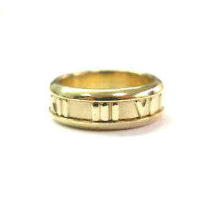 Tiffany & Co. Atlas 18K Yellow Gold Ring Size 6