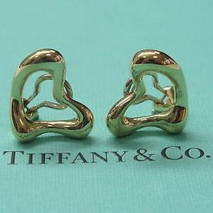 Tiffany & Co. Elsa Peretti 18K Yellow Gold Heart Huggie Earrings