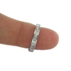 Platinum Princess Cut Diamond Eternity Band Ring