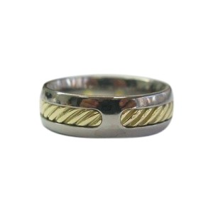David Yurman 18K Gold & Stainless Steel Wire Ring