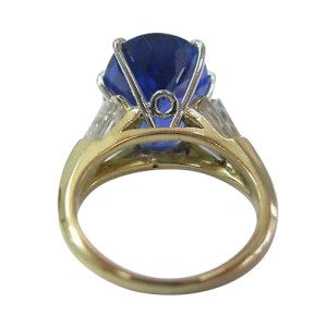 Yellow Gold Tanzanite Diamond Anniversary Ring