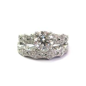 Tacori 18K White Gold Diamond Wedding Ring