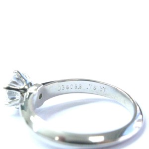 Tiffany & Co. PT950 Platinum with 0.78ct Solitaire Diamond Engagement Ring Size 5.25