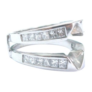 14K White Gold & Diamond Jacket Ring
