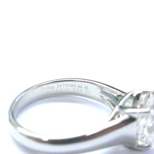 Tiffany & Co. PT950 Platinum with 2.19ct Solitaire Lucida Diamond Engagement Ring Size 5.25