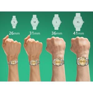 Ladies Rolex 26mm Datejust Two Tone Jubilee White MOP String Diamond Dial Bezel + Lugs + Sapphire