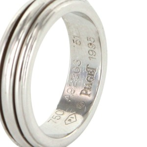 Piaget 18K White Gold Possession Motion Ring Size 5.75