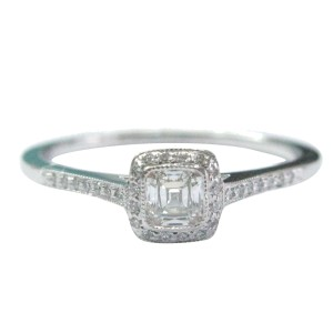 Tiffany & Co. PT950 Platinum with 0.59ct Diamond Engagement Ring Size 10