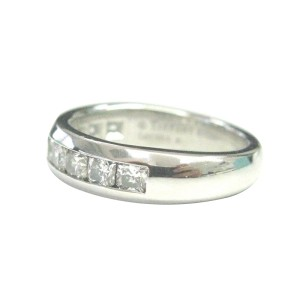 Tiffany & Co. PT950 Platinum with 0.75ct Lucida Diamond Half Circle Band Ring Size 5.5
