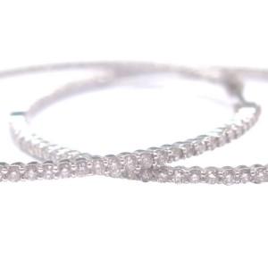 Gabriel & Co. 14K White Gold Inside Out Diamond Hoop Earrings