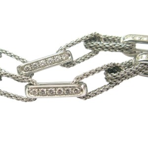 Tiffany & Co. 18K White Gold & 1.80ctw. Diamond Rope Necklace