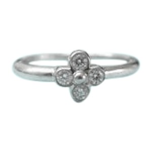Tiffany & Co. PT950 Platinum with Diamond Lace Ring Size 4