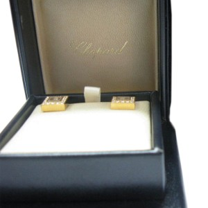 Chopard Happy Diamonds 18K Yellow Gold Diamond Earrings