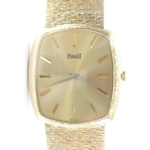 "Piaget 18K Mens Yellow Gold Wrist 92 Grams 8"" Watch"