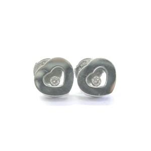 Chopard Happy Diamonds 18K White Gold Diamond Earrings