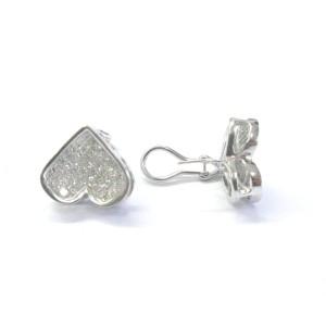 Diamond Heart Shape White Gold Earrings