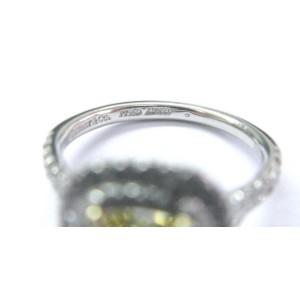 Tiffany & Co Platinum Cushion Fancy Intense Yellow Diamond Soleste Ring