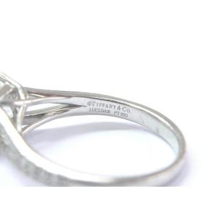 Tiffany & Co. Platinum Lucida Diamond Split Shank Engagement Ring