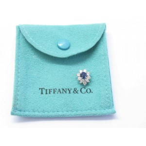 Tiffany & Co. Platinum Victoria Sapphire Diamond Pendant