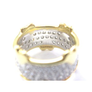 Tiffany & Co. Platinum 18K Yellow Gold Jean Schlumberger Diamond Heart Wide Band