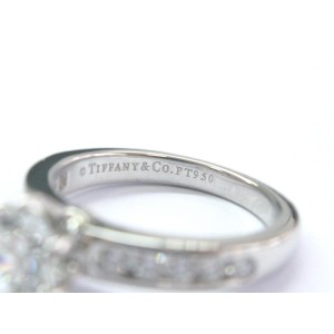 Tiffany & Co. Platinum Diamond Channel Set Engagement Ring