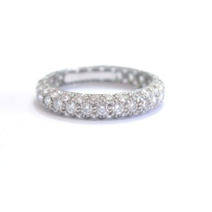 Tiffany & Co Platinum Row Diamond Band Ring