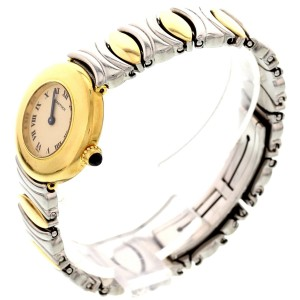 Cartier Baignoire 18K Yellow Gold & Stainless Steel Ladies Watch