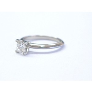 Tiffany & Co. Platinum Pt950 Princess Cut Diamond Solitaire