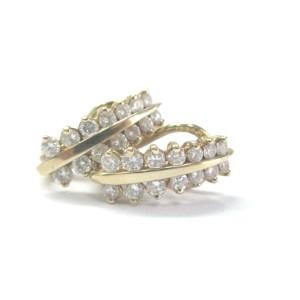 14K Yellow Gold Fine Round Cut 1.30 ct Diamond 2-Row Huggie Earrings