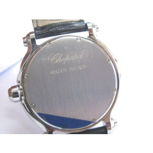 Chopard Happy Sport Diamond Stainless Steel and Leather 278509-3001 30 mm Watch