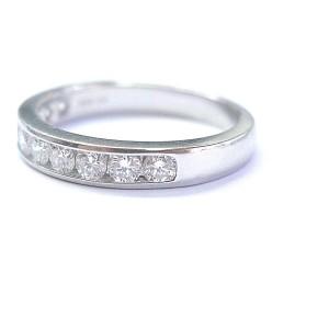 Tiffany & Co. Platinum .90ct Diamond Half Circle Band Ring Size 9.5