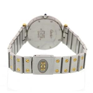 Cartier Santos Ronde 18K Yellow Gold & Stainless Steel Gray Dial Quartz 33mm Unisex Watch