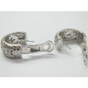Roberto Coin Granada 18K White Gold & 0.50ct Diamond Huggie Earrings